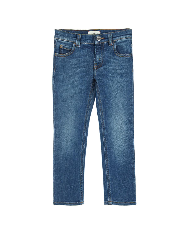 Брюки джинсовые Gucci для девочекДжинсы<br><br>