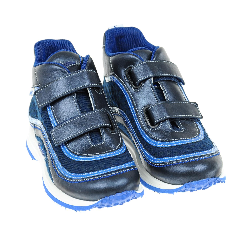 Кожаные кроссовки с застежками велькроКроссовки<br><br>