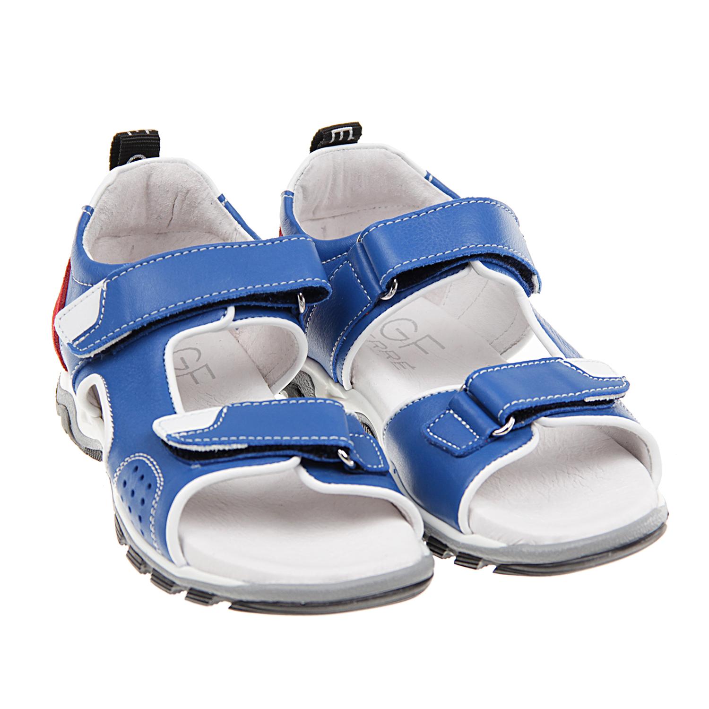 кожаные сандалии с застежками-велькро