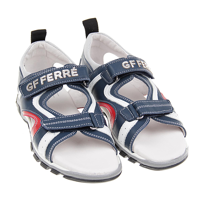 кожаные сандалии с контрастными вставкамиСандалии<br><br>