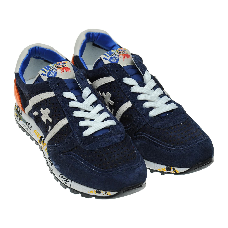 Замшевые кроссовки с перфорацией
