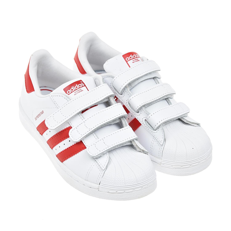 Купить Кроссовки Superstar из кожи Adidas детские, Белый, верх:натур.кожа, полимерные материалы, подкладка:текстиль, подошва:полимерные материалы