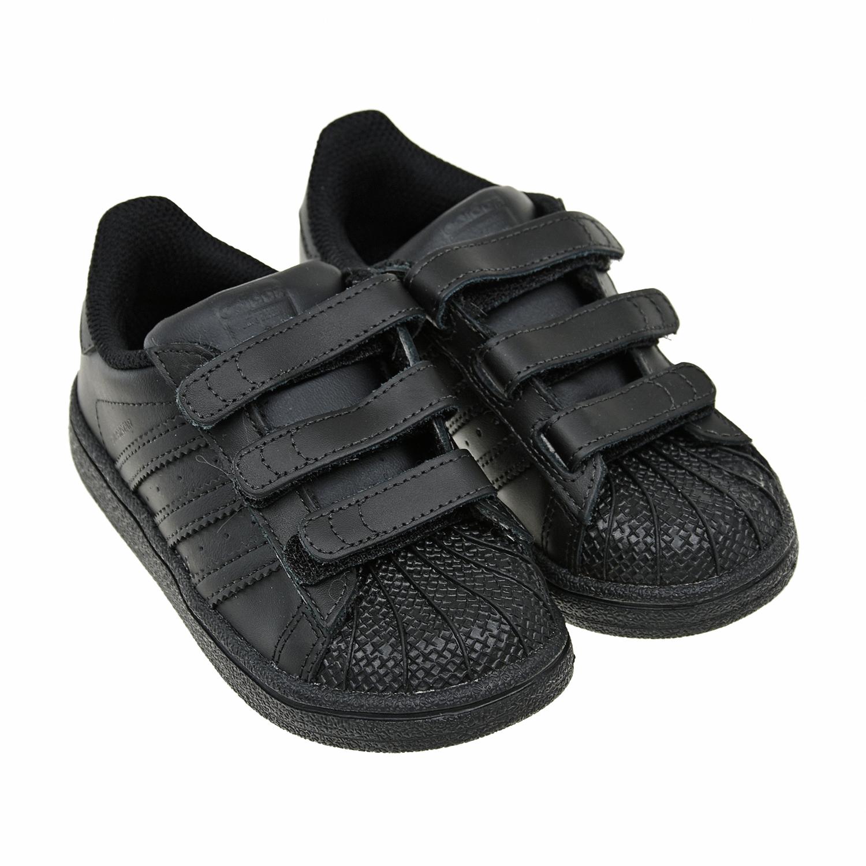 Купить Кроссовки Adidas детские, Черный, верх:нат.кожа, полимерные материалы, подкладка:полимерные материалы, текстиль, подошва:полимерные материалы