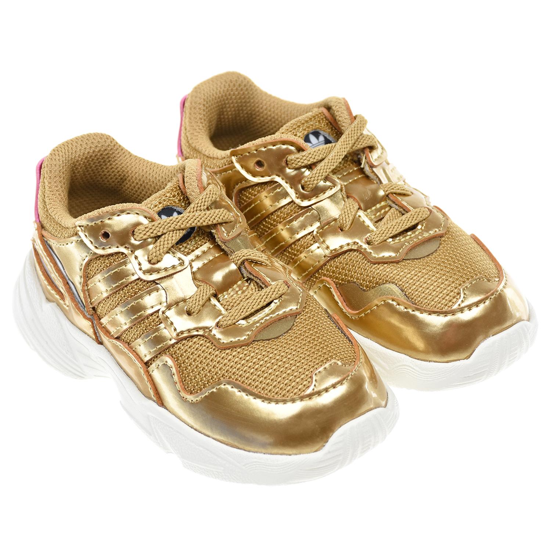 Купить Кроссовки Adidas детские, Золотой, Верх:полимерные материалы, текстиль, подкладка:текстиль, подошва:полимерные материалы