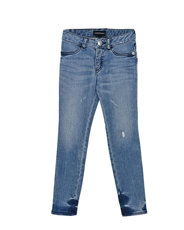 Купить со скидкой Slim fit джинсы с потертостями Emporio Armani детский