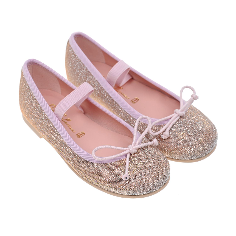 Купить Туфли с эластичным ремешком Pretty Ballerinas детские, Розовый, верх:текстиль, подкладка:нат.кожа, подошва:полимерные материалы