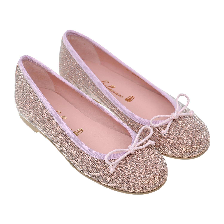 Купить Текстильные балетки Pretty Ballerinas детские, Розовый, верх:текстиль, подкладка:нат.кожа, подошва:полимерные материалы