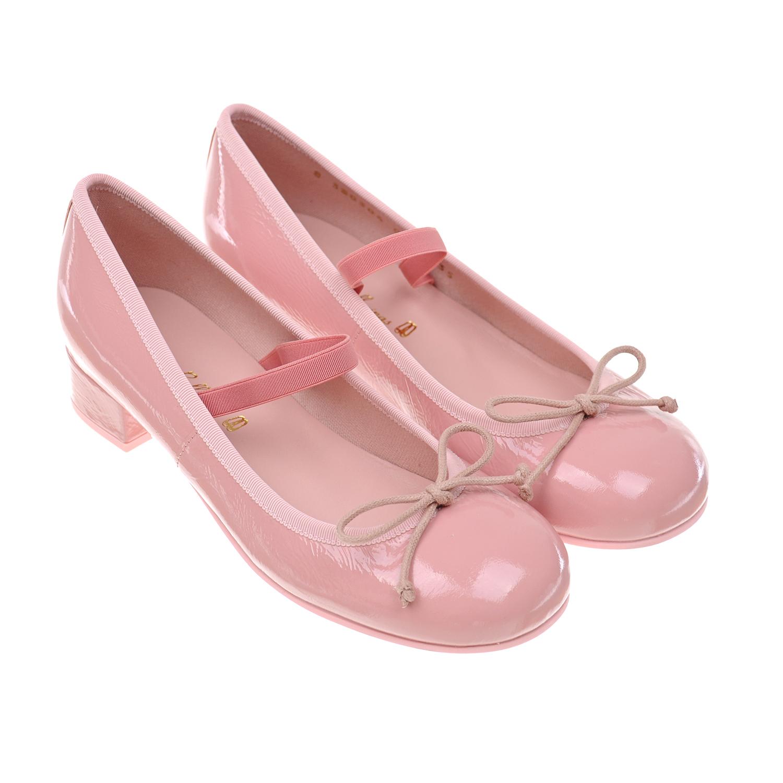 Купить Лакированные туфли с бантом Pretty Ballerinas детские, Розовый, верх:нат.кожа, подкладка:нат.кожа, подошва:полимерные материалы