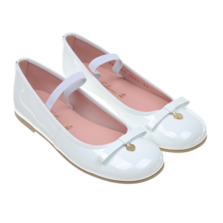 Купить Туфли из лакированой кожи Pretty Ballerinas детские, Белый, верх:нат.кожа, подкладка:текстиль, подошва:полимерные материалы