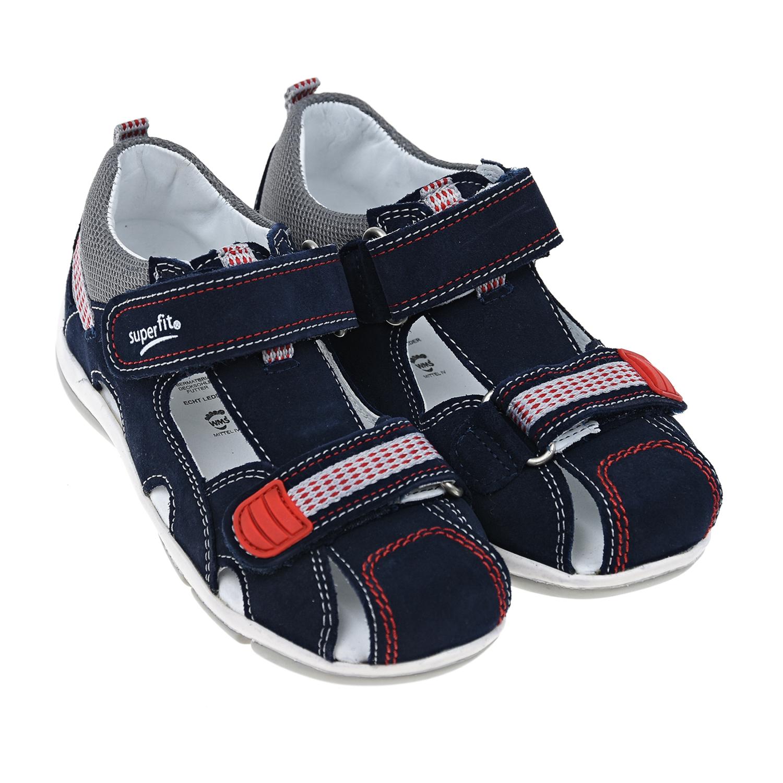 Замшевые сандалии с закрытым носком SUPERFIT.