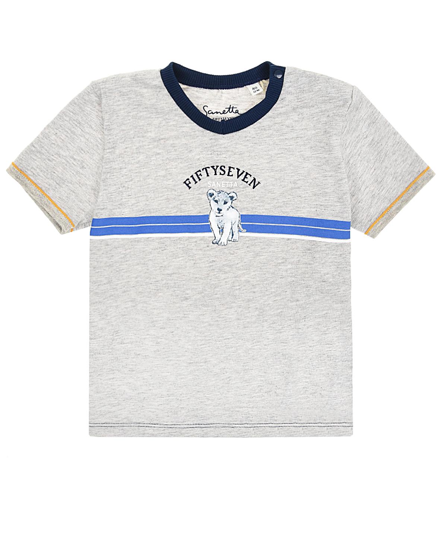 Купить Футболка Sanetta fiftyseven детская, Серый, 100%хлопок