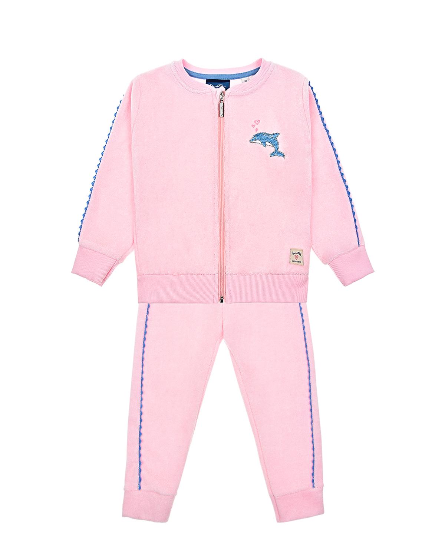 Купить Костюм спортивный Sanetta Kidswear детский, Розовый, 80%хлопок+20%полиэстер