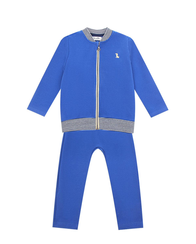 Купить Синий спортивный костюм из жаккарда Sanetta fiftyseven детский, 100%хлопок