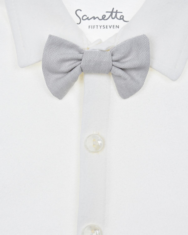 Рубашка из хлопка с галстуком-бабочкой Sanetta fiftyseven детская
