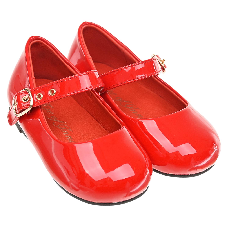 Красные лакированные туфли Age of Innocence детские фото