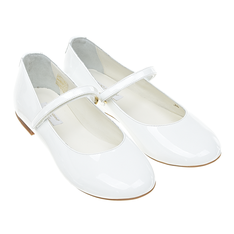 Купить Белые лакированные туфли Dolce&Gabbana детские, Белый, верх:100%нат.кожа, подкладка:100%нат.кожа, подошва:100%полимерные материалы