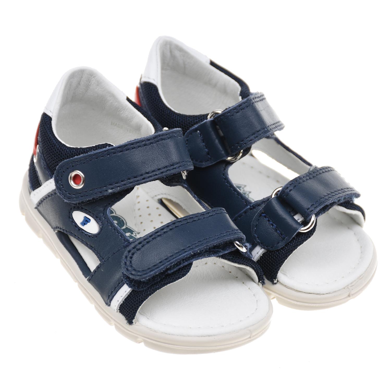 Купить Синие сандалии из натуральной кожи Falcotto детские