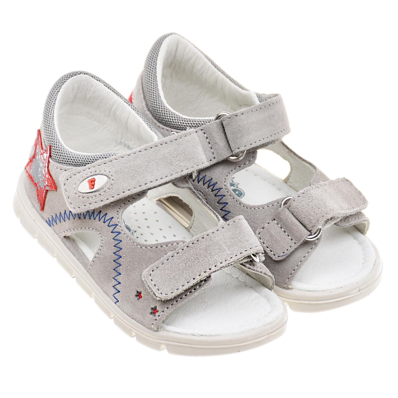 Купить Серые сандалии со звездой Falcotto детские