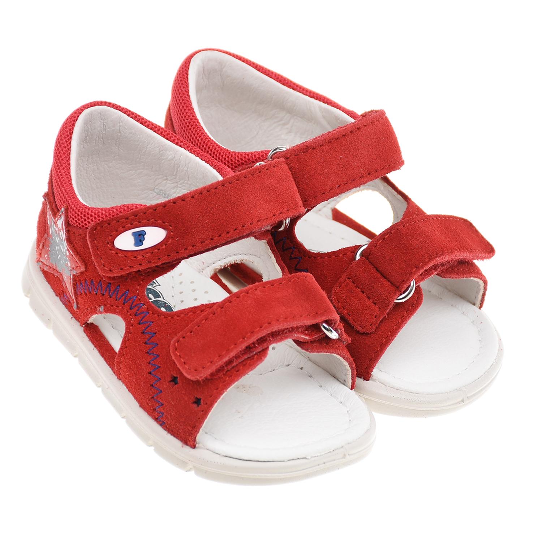 Купить Красные сандалии со звездой Falcotto детские