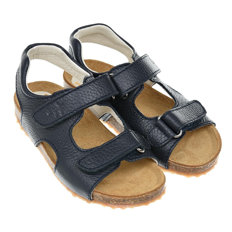 Купить Сандалии из кожи на пробковой подошве IL Gufo Shoes детские, Синий, верх:100%кожа, подкладка:100%кожа, подошва:50%резина, 50%пробка