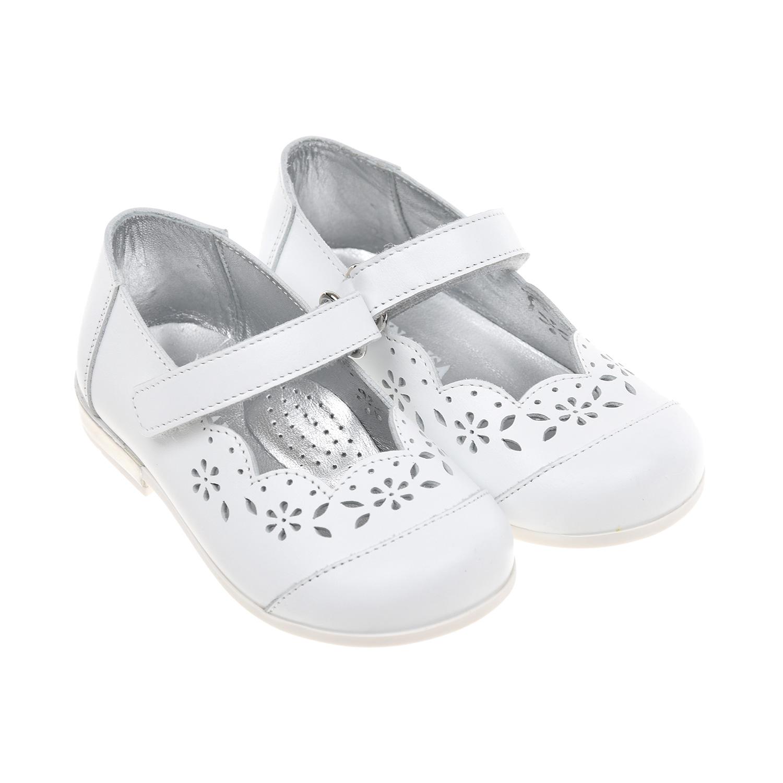 Белые туфли с перфорацией Monnalisa детские фото