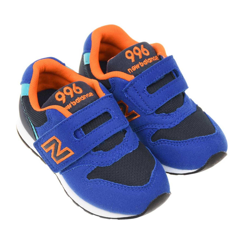 Синие кроссовки 996 с черными вставками NEW BALANCE детские фото