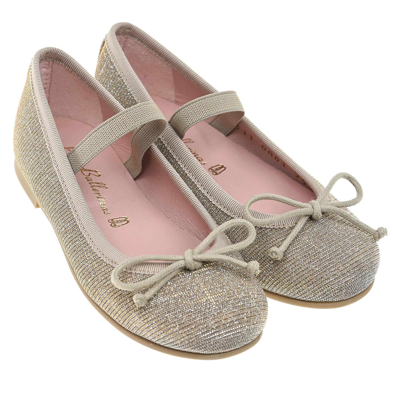 Купить Золотистые туфли с перемычкой Pretty Ballerinas детские, Нет цвета, верх-100%текстиль, подкладка-100%нат.кожа, подошва-100%полим.материалы