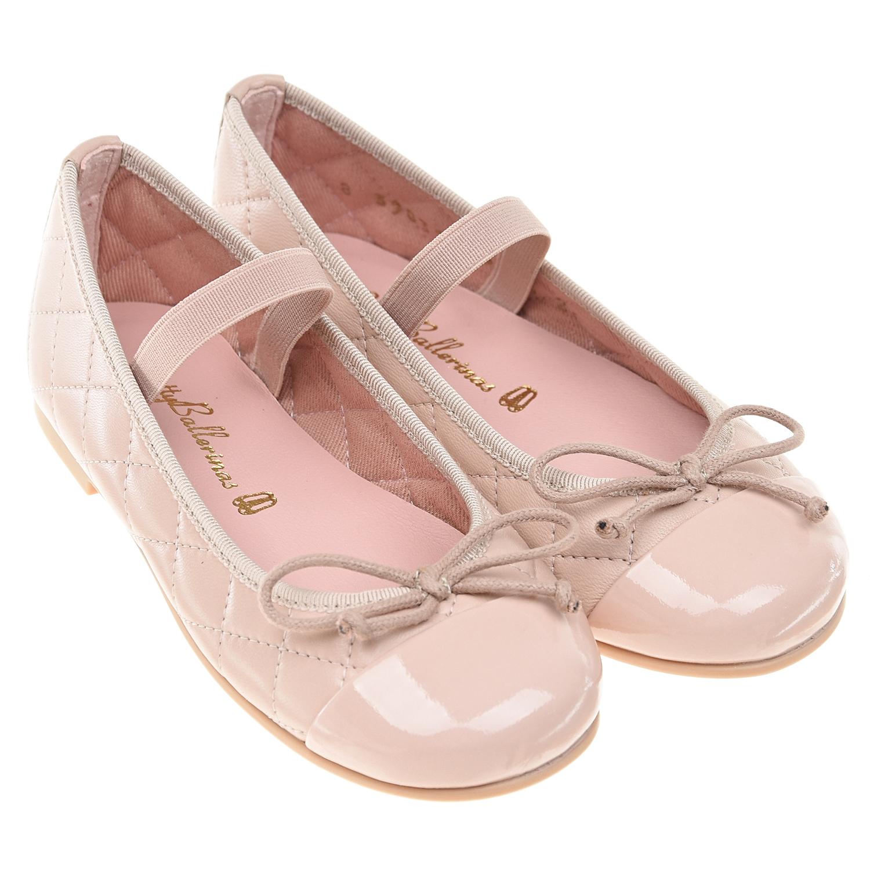 Купить Стеганые туфли пудрового цвета Pretty Ballerinas детские, Розовый, верх:100%нат.кожа, подкладка:100%текстиль, подошва:100%полимерные материалы