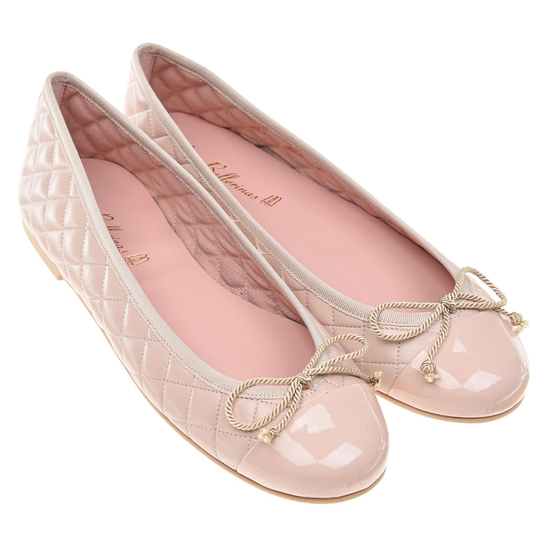 Купить Стеганые балетки пудрового цвета Pretty Ballerinas детские, Розовый, верх:100%нат.кожа, подкладка:100%текстиль, 100%нат.кожа, подошва:100%полимерные материалы