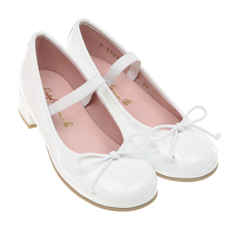 Купить Лакированные туфли на каблуке Pretty Ballerinas детские, Белый, верх:100%нат.кожа, подкладка:100%текстиль, 100%нат.кожа, подошва:100%полимерные материалы
