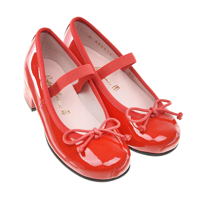 Купить Лакированные туфли красного цвета Pretty Ballerinas детские, Красный, верх:100%нат.кожа, подкладка:100%текстиль, 100%нат.кожа, подошва:100%полимерные материалы