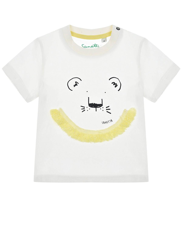 """Футболка с принтом """"Львенок"""" Sanetta Kidswear детская фото"""