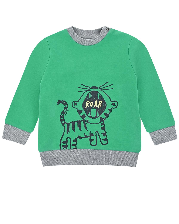 Купить Свитшот с принтом Тигр Sanetta Kidswear детский