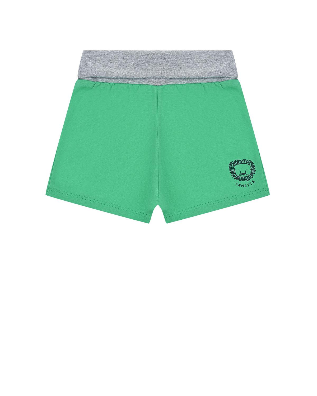 Купить Шорты с принтом Львенок Sanetta Kidswear детские, Зеленый, 100%хлопок