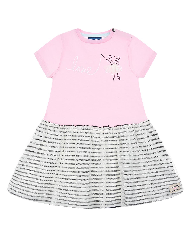Купить Платье с принтом Мышка Sanetta Kidswear детское, Мультиколор, 100%хлопок