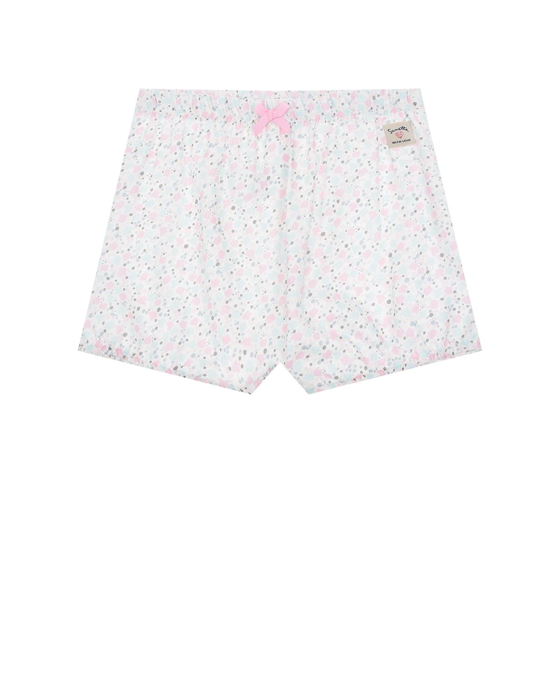 Купить Шорты с цветочным принтом Sanetta Kidswear детские, Мультиколор, 100%хлопок