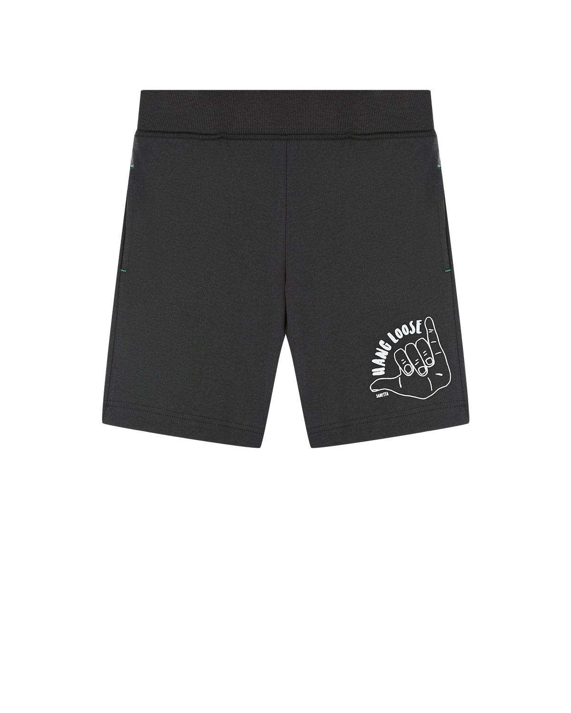 Спортивные шорты серого цвета Sanetta детские фото