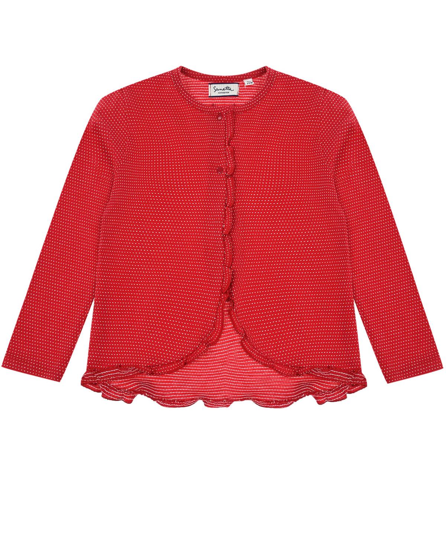 Красная кофта в белый горошек Sanetta fiftyseven детская фото