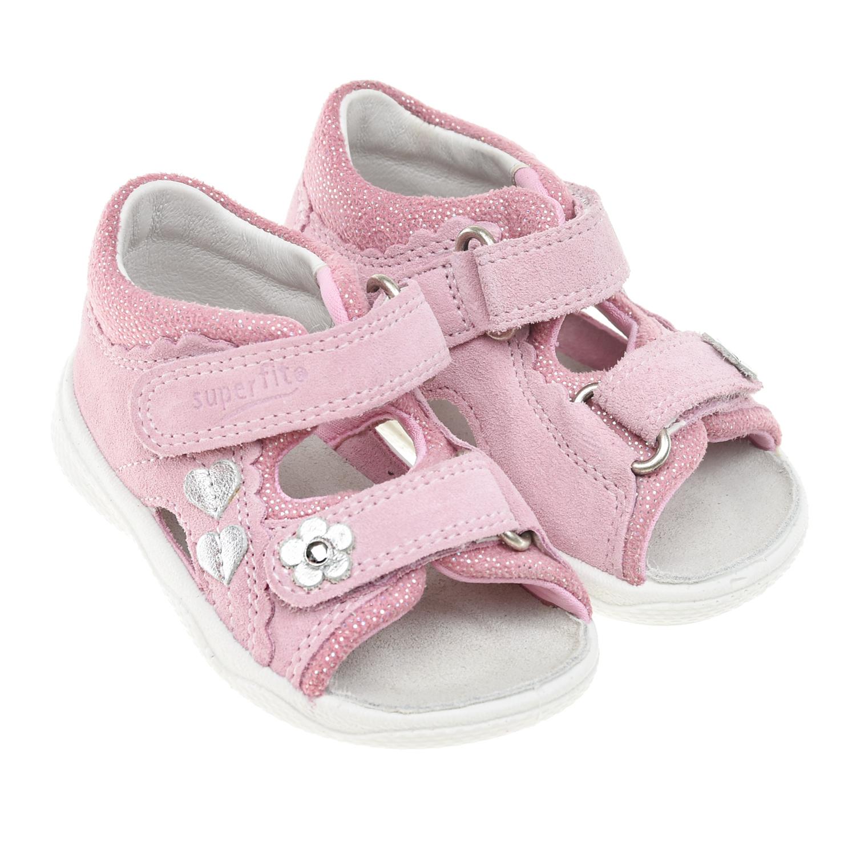 Купить Розовые босоножки из кожи SUPERFIT детские