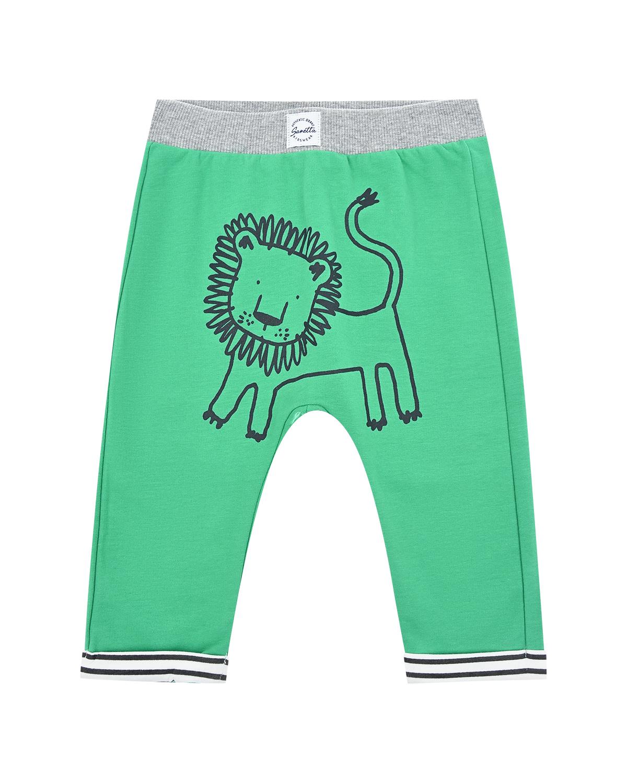 """Спортивные брюки с принтом """"Львенок"""" Sanetta Kidswear детские фото"""