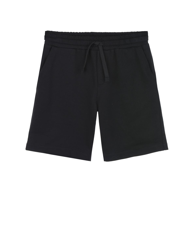 Купить Черные хлопковые шорты Dolce&Gabbana детские, Черный, 100%хлопок