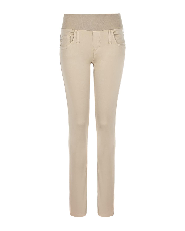 Бежевые брюки для беременных SKINNY Pietro Brunelli бежевого цвета