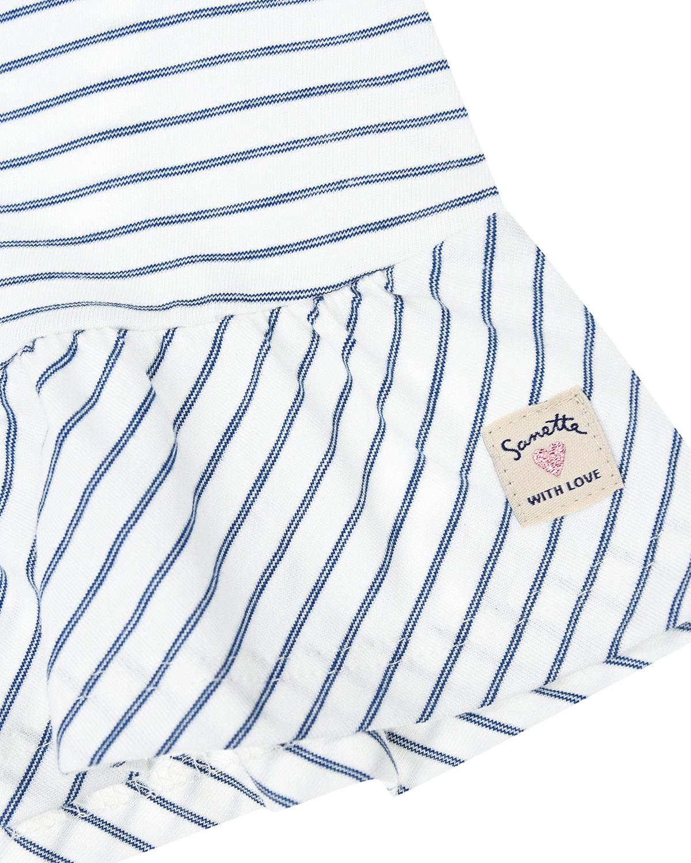 Туника в полоску с короткими рукавами Sanetta Kidswear детская