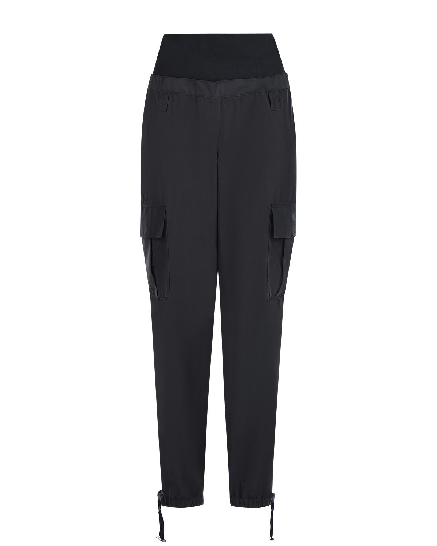 Черные брюки карго для беременных Pietro Brunelli черного цвета