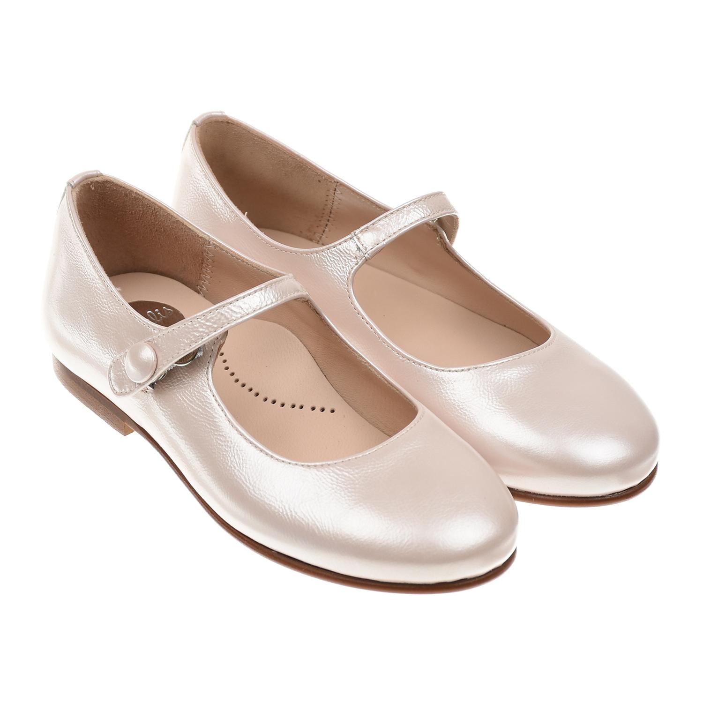 Купить Туфли жемчужно-розового цвета Beberlis детские, Розовый, Верх:100% кожа, Подкладка:100% кожа, Стелька:100% кожа, Подошва:100% полиуретан