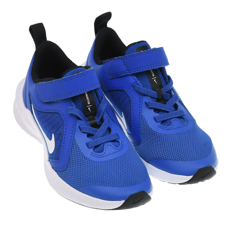 Купить Синие кроссовки Downshifter 10 Nike детские, Синий, верх-49%нат.кожа+38%текстиль+13%синт.кожа, подкладка-100%текстиль, подошва-90%резина+10%пластик