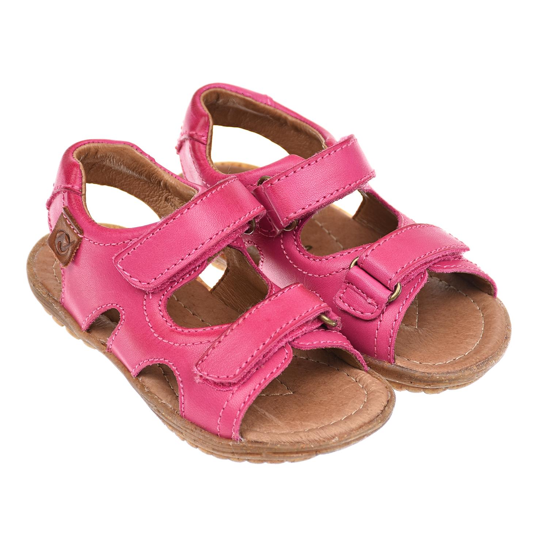 Купить Кожаные босоножки цвета фуксии Naturino детские, Розовый, Верх:100% кожа, Подкладка:100% кожа, Стелька:100% кожа, Подошва:100% резина