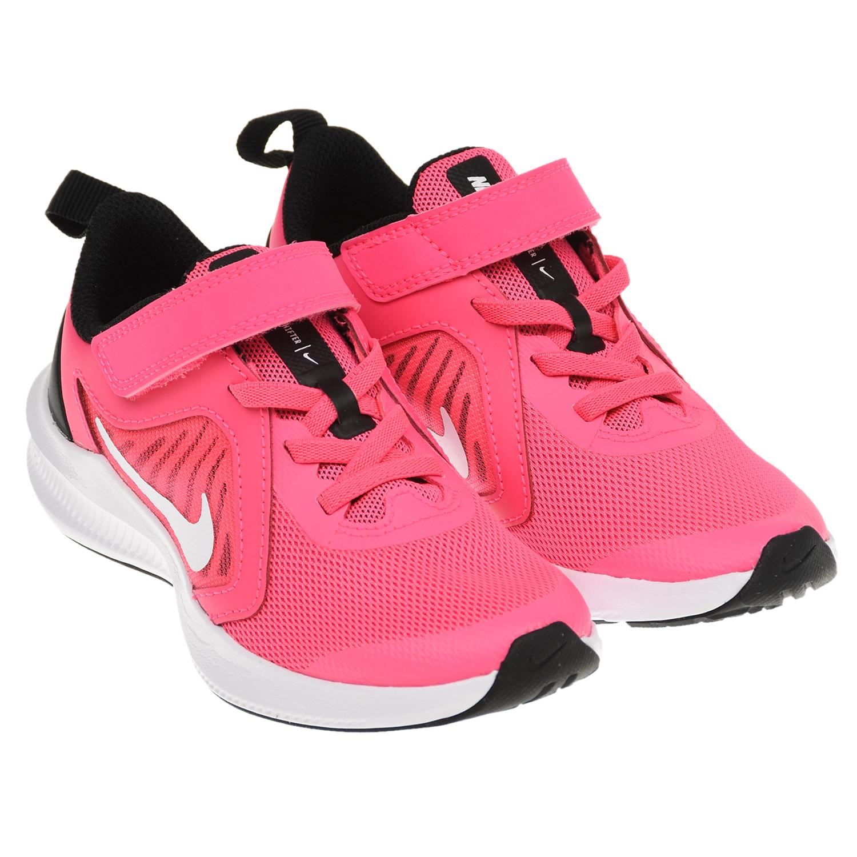Купить Кроссовки Downshifter 10 цвета фуксии Nike детские, Нет цвета, Верх:49%кожа+38%текстиль+13%синт.кожа, подкладка:100%текстиль, подошва:90%резина+10%пластик