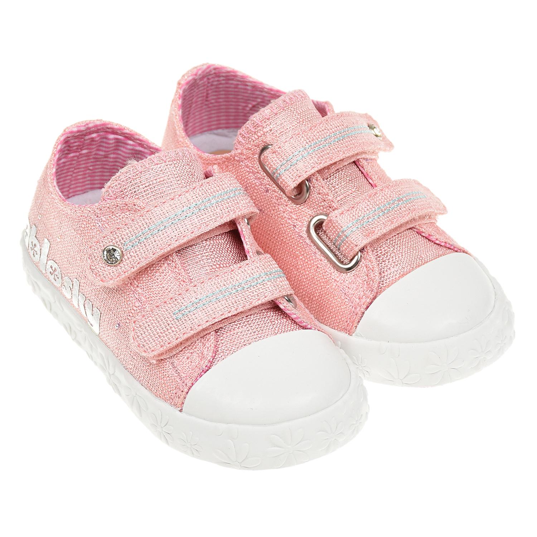 Купить Розовые кеды на липучках PABLOSKY детские, Розовый, верх:90% хлопок+10% резина, подкладка:100%хлопок, стелька:100%кожа, подошва:100%резина