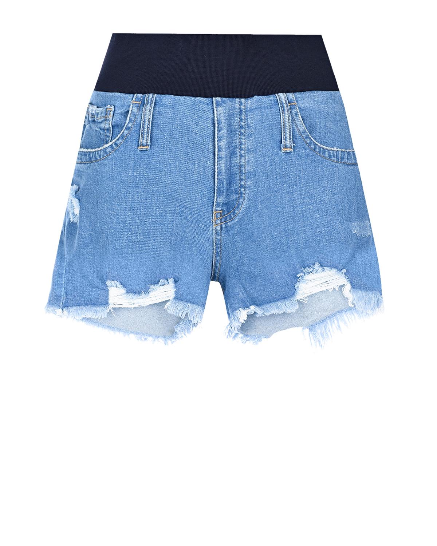 Шорты для беременных с бандажным ремнем Pietro Brunelli, Голубой, 98% хлопок+2% эластан  - купить со скидкой